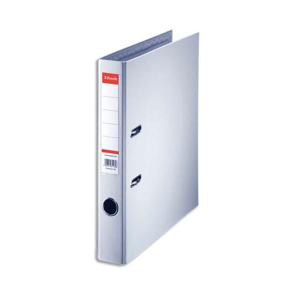 ESSELTE Classeur à levier à dos de 5 cm plastifié intérieur et extérieur gris