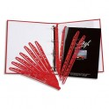 5 ETOILES Paquet de 100 bandes perforées porte-revues MAGI CLIP rouge
