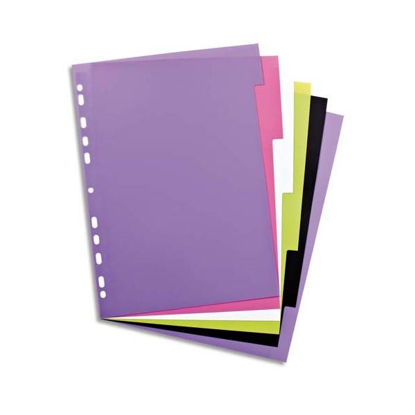 ELBA Intercalaire MY COLOUR 6 touches Mylar® en polypropylène 3/10e, coloris assortis