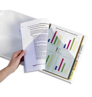 AVERY Double pochette intercalaires plastiques 6 touches à onglets personnalisables format A4+