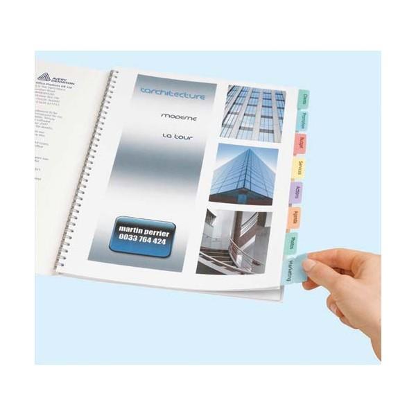 AVERY Lot de 4 planches pour imprimer 96 onglets adhésif pour une personnalisation