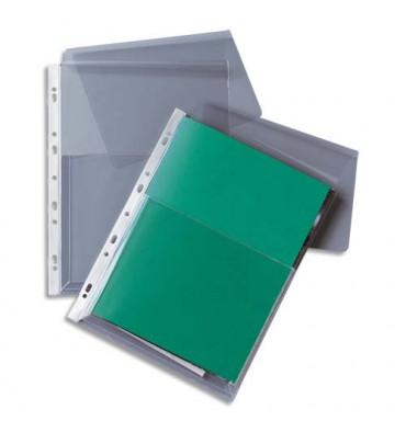 5 ETOILES Sachet de 10 pochettes-plan en PVC 20/100e, perforation 11 trous