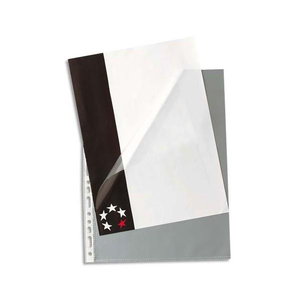 5 ETOILES Boîte de 100 pochettes à ouverture en coin en polypropylène 9/100e, perforation 11 trous (photo)