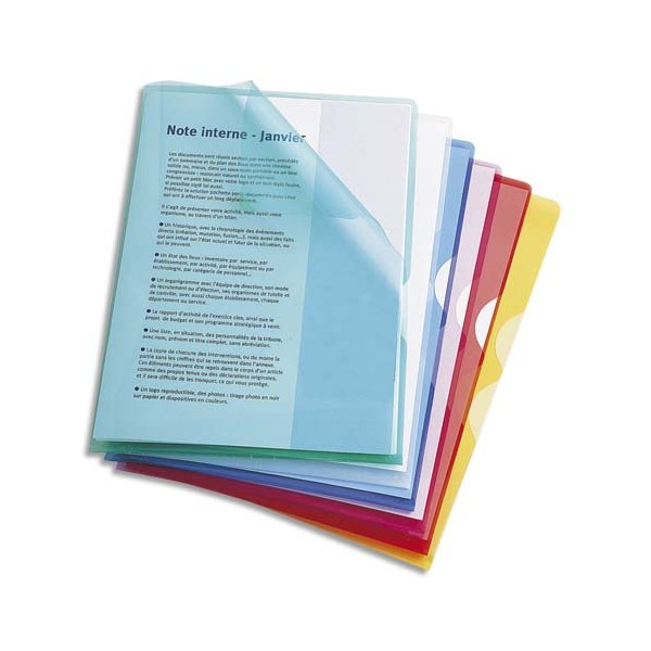 ELBA Sachet de 10 pochettes-coin Fard'Or en PVC 14/100e incolore