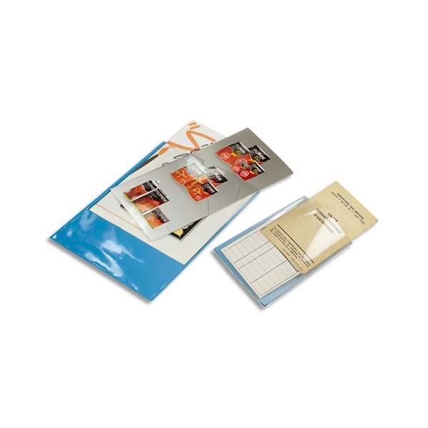 EXACOMPTA Sachet de 10 étuis 4 faces en PVC 15/100e, format A4