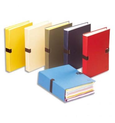5 ETOILES Chemise extensible recouverte de papier toilé, coloris bleu clair