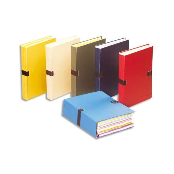 5 ETOILES Chemise extensible recouverte de papier toilé, coloris jaune (photo)