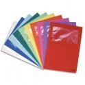 EXACOMPTA Paquet de 25 pochettes coins en carte 120 g avec fenêtre, assortis vif