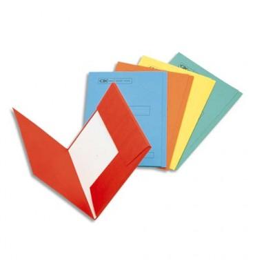 ESSELTE Boîte de 100 sous-dossiers 160g à 2 rabats rouge Scor, pour dossiers armoire et tiroir