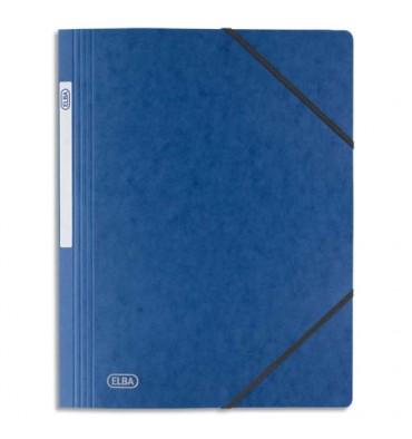 ELBA Chemise simple à élastique Topfile, en carte lustrée 5/10e, coloris bleu