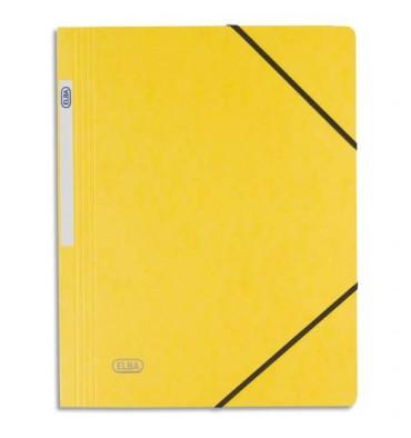 ELBA Chemise simple à élastique Topfile, en carte lustrée 5/10e, coloris jaune