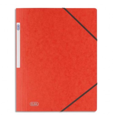 ELBA Chemise simple à élastique Topfile, en carte lustrée 5/10e, coloris rouge