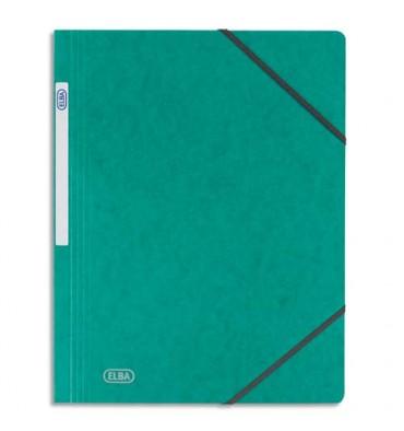 ELBA Chemise simple à élastique Topfile, en carte lustrée 5/10e, coloris vert