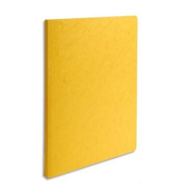 EXACOMPTA Chemise simple LUSTRO à dos rainé, en carte lustrée 5/10e, coloris jaune