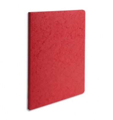 EXACOMPTA Chemise simple LUSTRO à dos rainé, en carte lustrée 5/10e, coloris rouge