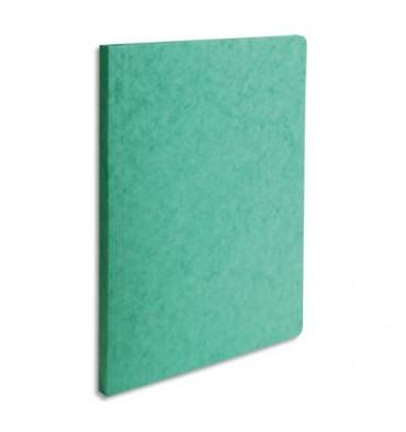 EXACOMPTA Chemise simple LUSTRO à dos rainé, en carte lustrée 5/10e, coloris vert