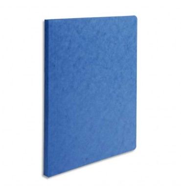 EXACOMPTA Chemise simple LUSTRO à dos rainé, en carte lustrée 5/10e, coloris bleu
