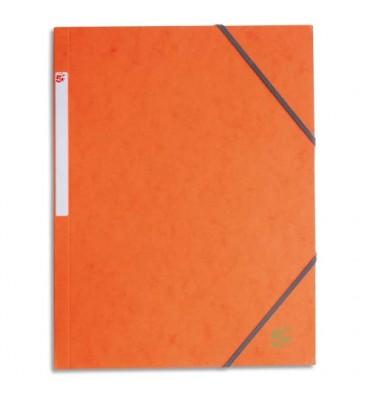 5 ETOILES Chemise 3 rabats et élastique en carte, coloris orange