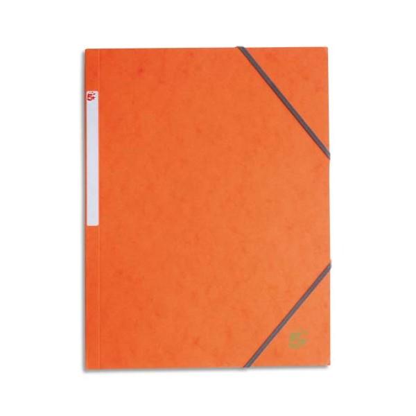 5 ETOILES Chemise 3 rabats et élastique en carte, coloris orange (photo)