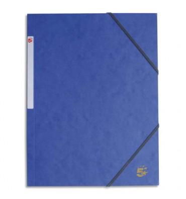 5 ETOILES Chemise 3 rabats et élastique en carte bleu
