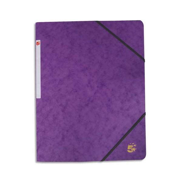 5 ETOILES Chemise 3 rabats et élastique en carte violet (photo)