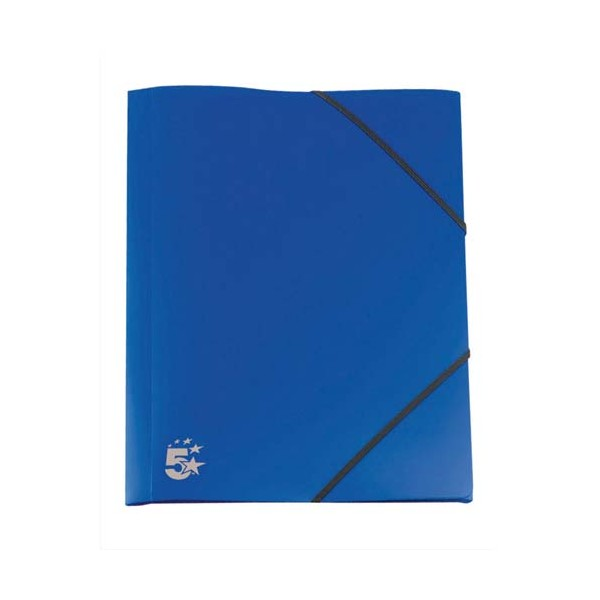 5 ETOILES Chemise 3 rabats et élastique en polypropylène 4/10e bleu marine (photo)