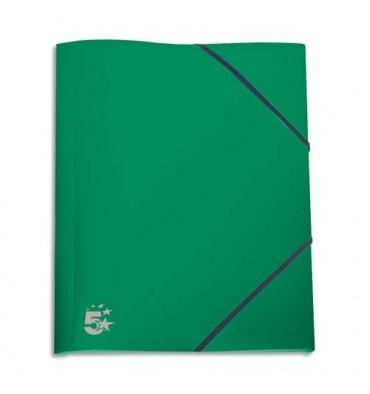 5 ETOILES Chemise 3 rabats et élastique en polypropylène 4/10e vert