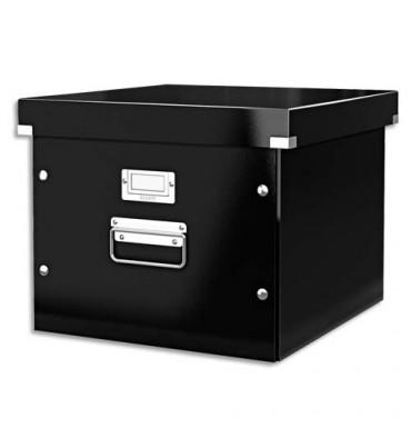 LEITZ Boîte Click & Store taille M p/dossiers suspendus à bouton pression noir