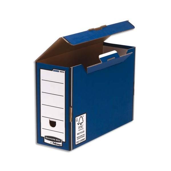 BANKERS BOX Boîte à archives PRESTO PREMIUM bleue (photo)