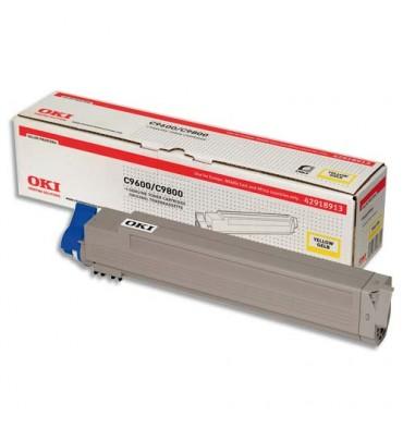OKI Cartouche toner laser jaune 42918913