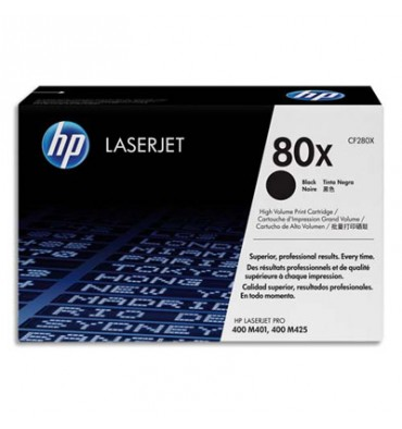HP Toner laser noir 80X