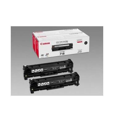 CANON Pack 2 cartouches toner laser noir 718BKVP
