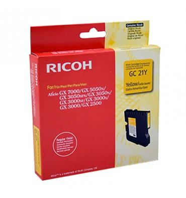 RICOH Cartouche gel multifonctions jaune GC21K - 405535