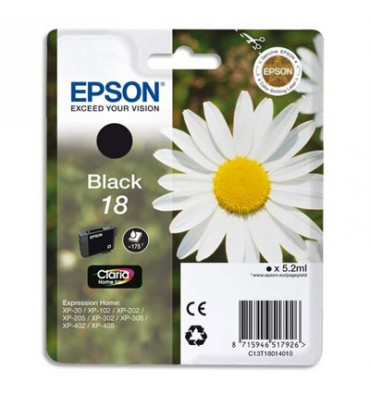 EPSON Cartouche jet d'encre noir T1801