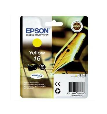 EPSON Cartouche jet d'encre jaune T1624