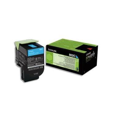 LEXMARK Cartouche toner laser cyan 80C20C0