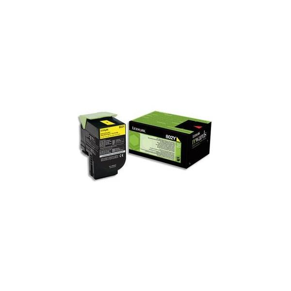 LEXMARK Cartouche toner laser jaune 80C20Y0