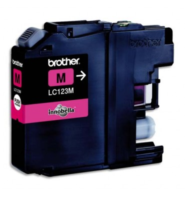 BROTHER Cartouche jet d'encre magenta LC123M