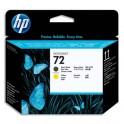 HP Tête d'impression noire mat et jaune n°72 C9384A