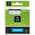 DYMO Ruban D1 poly 12 mm x 7 m Blanc / Transparent - 45020