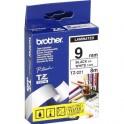 BROTHER Ruban pour PTouch laminé Noir / Blanc 9 mm x 8 m - TZe 221