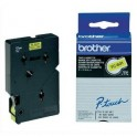 BROTHER Cassette Ruban TC Noir / Jaune 12 mm x 7,7 m - TC601
