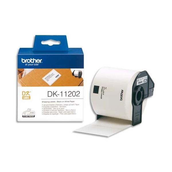 BROTHER Rouleau de 300 étiquettes d'expédition 62 x 100 mm pour étiqueteuses QL500 et QL550 - DK11202