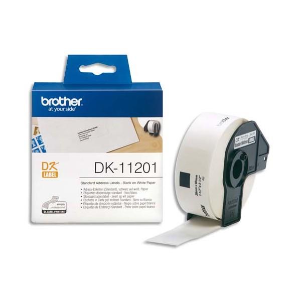 BROTHER Rouleau de 400 étiquettes d'adressage 29 x 90 mm pour étiqueteuses QL500 et QL550 - DK11201
