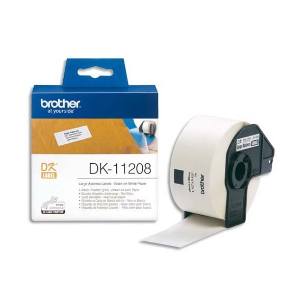 BROTHER Rouleau de 400 étiquettes d'adressage 38 x 90 mm pour étiqueteuses QL500 et QL550 - DK11208