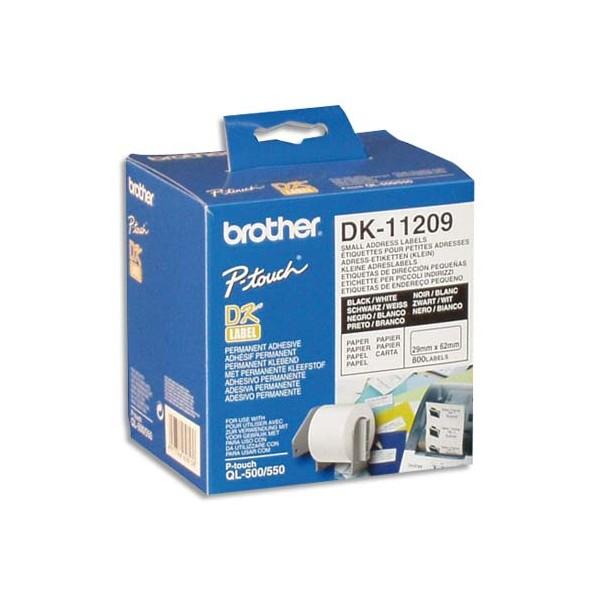 BROTHER Rouleau de 800 étiquettes d'adressage 29 x 62 mm - DK112209