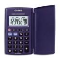 CASIO Calculatrice de poche étui rigide à 8 chiffres HL820VER, coloris bleu