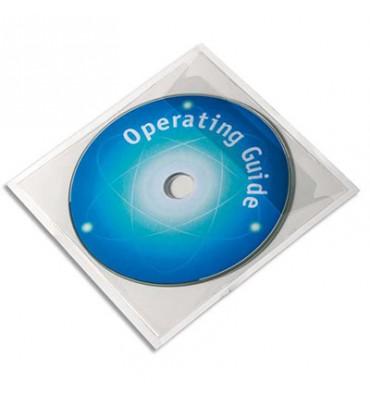DURABLE Boîte de 10 pochettes adhésives pour CD
