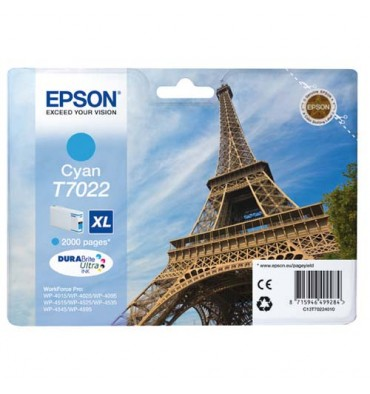 EPSON Cartouche jet d'encre cyan XL T702240