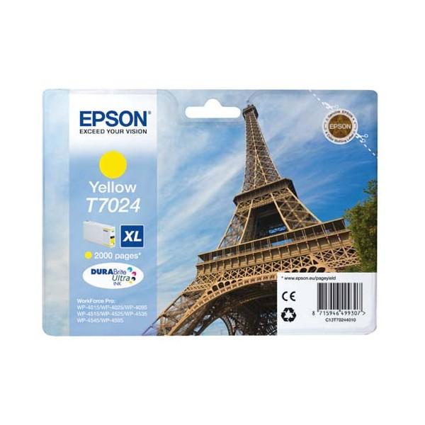 EPSON Cartouche jet d'encre jaune XL T7024